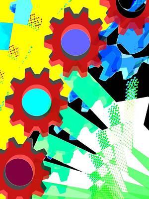 Gears 5/ Flowers Art Print