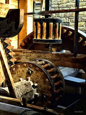 Photograph - Gears In A Grist Mill by Susan Savad