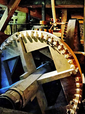 Photograph - Gears In Grist Mill by Susan Savad