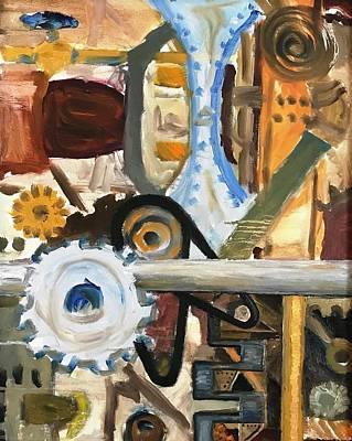 Digital Art - Gears In The Machine by Rick Adleman
