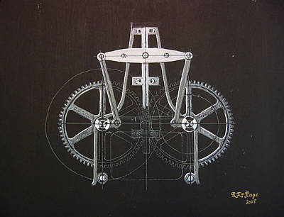 Painting - Gears No2 by Richard Le Page