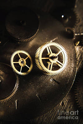 Old Objects Photograph - Gears Of Automation by Jorgo Photography - Wall Art Gallery