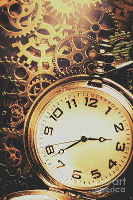 Gears Of Time Travel Print by Jorgo Photography - Wall Art Gallery