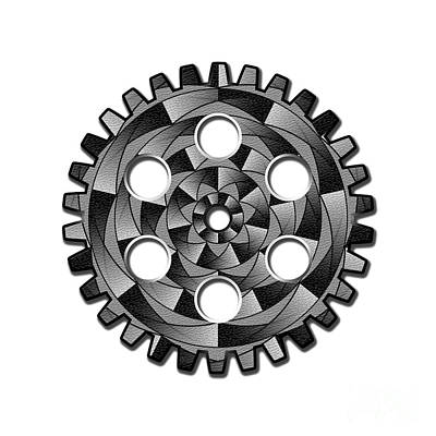 Gearwheel In Black And White Art Print by Gaspar Avila