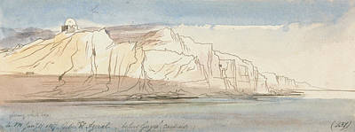Drawing - Gebel El Azerat  by Edward Lear