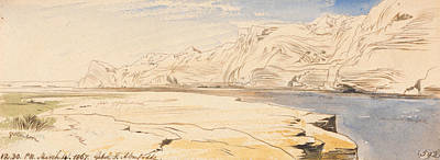 Drawing - Gebel Sheikh Abu Fodde, Twelve-thirty Pm, 4 March 1867 by Edward Lear