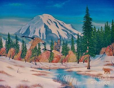 Geese And Mount St Helens Original