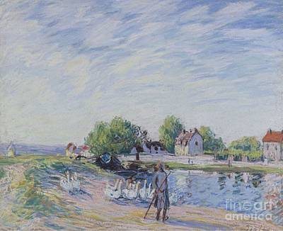 Geese Painting - Geese At Saint by MotionAge Designs