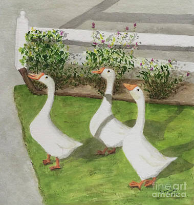 Geese Police Print by Bonnie Young