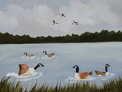 Cloudy Day Painting - Geese Season Sold by Ruth  Housley