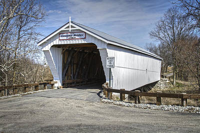 Music Royalty-Free and Rights-Managed Images - Geeting Covered Bridge by Jack R Perry