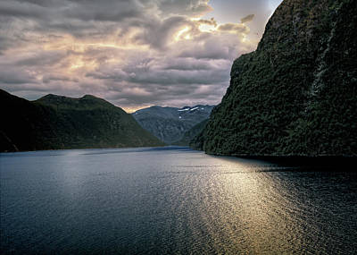 Print featuring the photograph Geiranger Fjord by Jim Hill