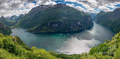 Photograph - Geirangerfjord In Panorama by IPics Photography