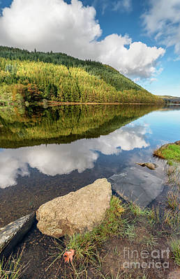 Geirionydd Lake Wales Print by Adrian Evans