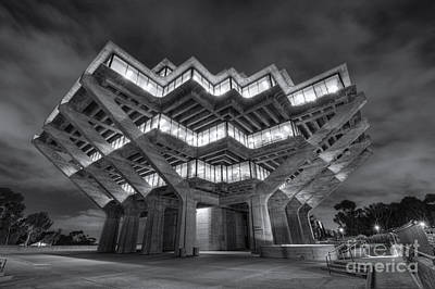 Photograph - Geisel Library In Black And White by Eddie Yerkish