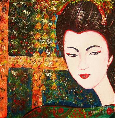 Pleasure Mixed Media - Geisha by Anastasis  Anastasi