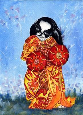 Geisha Chin Art Print