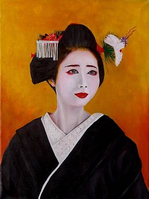 Painting - Geisha by Courtney Wilding