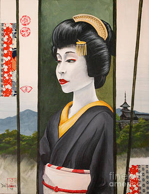 Geisha Art Print by Dee Youmans-Miller
