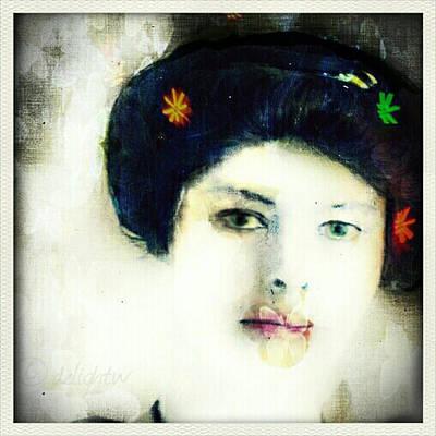 Digital Art - Geisha by Delight Worthyn