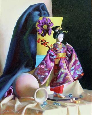 Wall Art - Painting - Geisha Doll by John Folley