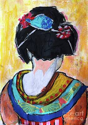 Painting - Geisha Girl  by Corina Stupu Thomas
