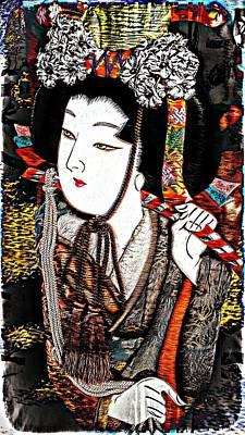 Digital Art - Geisha Girl by Ian Gledhill