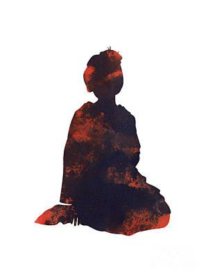Geisha Girl Painting - Geisha Girl Japanese Woman Painting by Joanna Szmerdt