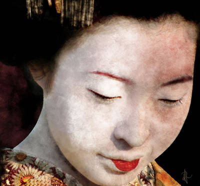 Geisha Girl Art Print by Pennie  McCracken