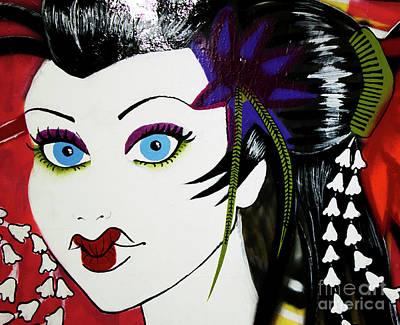 Photograph - Geisha Graffiti by Nola Lee Kelsey