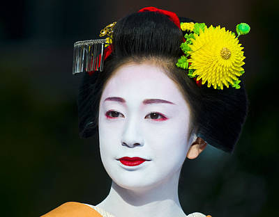 Photograph - Geisha  by Kobby Dagan