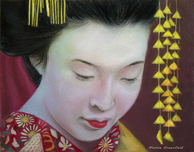 Drawing - Geisha by Mamie Greenfield