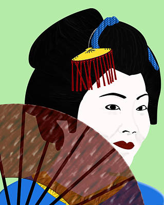 Digital Art - Geisha by Melissa Stinson-Borg