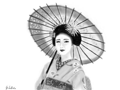 Painting - Geisha No.148 by Yoshiyuki Uchida