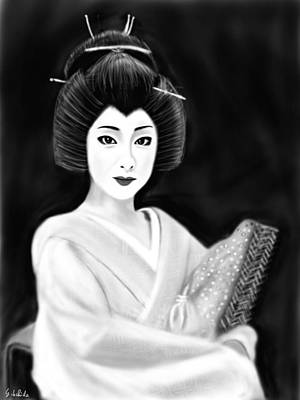 Painting - Geisha No.154 Revised by Yoshiyuki Uchida