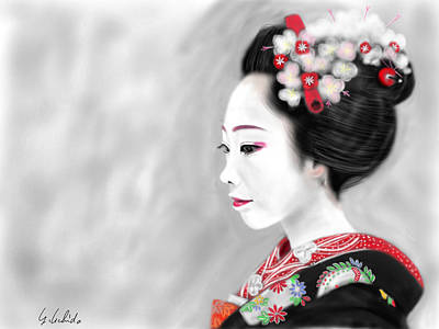 Geisha No.200 Art Print by Yoshiyuki Uchida