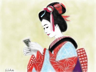 Painting - Geisha No.218 by Yoshiyuki Uchida