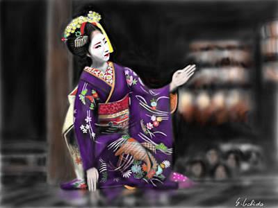 Geisha No.9 Art Print by Yoshiyuki Uchida