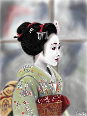 Geisha No.91 Revised Art Print by Yoshiyuki Uchida