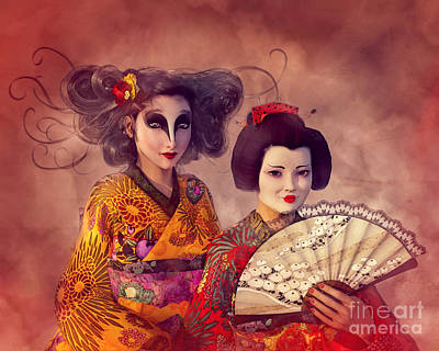 Painting - Geisha Portrait by Methune Hively