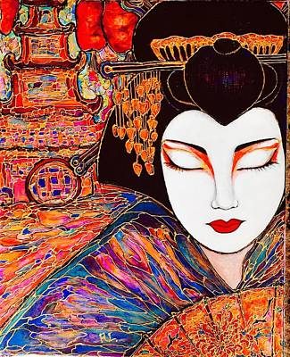 Painting - Geisha by Rae Chichilnitsky