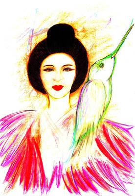 Pastel - Geisha by Roger Hanson