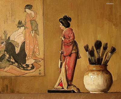 Painting - Geisha Views by Robert Holden