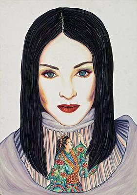 Geisha Walls Art Print by Joseph Lawrence Vasile