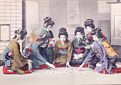 Colorized Image Photograph - Geishas by Delphimages Photo Creations