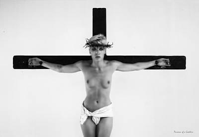 Christ On Cross Photograph - Gekreuzigte Frau by Ramon Martinez