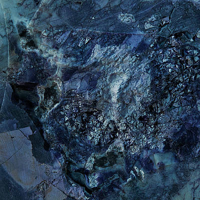 Gem 1 In Blue Art Print by Sean Holmquist