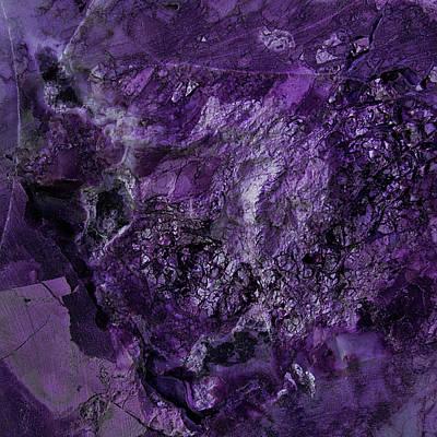Gem 1 In Purple Art Print by Sean Holmquist