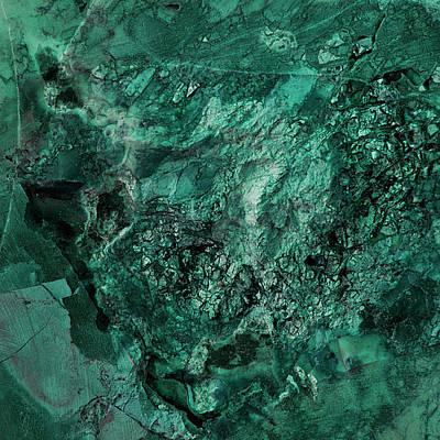 Gem 1 In Teal Art Print by Sean Holmquist