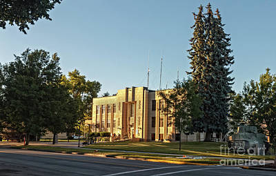 Gem County Courthouse Print by Robert Bales
